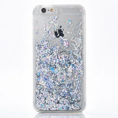 Pretty Silver Glitter Cascading Flakes Case for your iPhone. - High Quality - Protective Hard Case - Easy Access to Ports - Available for iPhone 7, 7 Plus