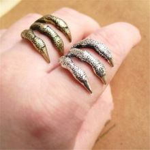 The New European And American Pop Punk Retro Texture Talons Personalized Antique Alloy Claw Ring-j087(China (Mainland))