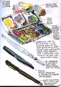Water color Materials. I need watercolor palette and paper and brushes!!!
