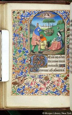 Book of Hours, MS G.1.I fol. 61v - Images from Medieval and Renaissance Manuscripts - The Morgan Library & Museum