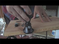 Video: How to Use a Dremel Tool- using router attachment to round edges on wood