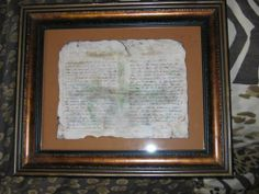 Father's Day Project: Framed Civil War Letter as a Homemade Crafty Gift for Dad - OCCASIONS AND HOLIDAYS - Knitting, sewing, crochet, tutorials, children crafts, papercraft, jewlery, needlework, swaps, cooking and so much more on Craftster.org