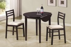 3-Piece Dining Set in Cappuccino