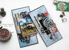 Лисичка со скалочкой: Мужской конверт #2 Steampunk, Masculine Cards, Homemade Cards, Card Making, How To Make, Scrapbooking, Men, Man Card, Cards