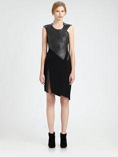 Helmut Lang - Crystal Leather Dress - Saks.com