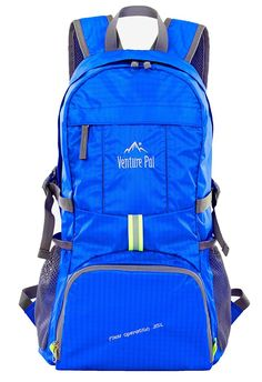 Venture Pal Lightweight Packable Durable Travel Hiking Backpack Daypack Royal Blue