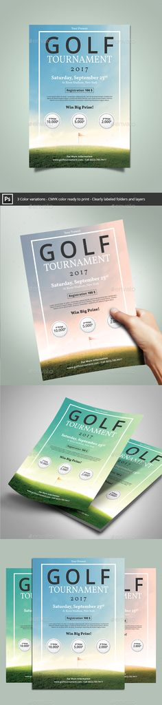 Golf tournament announcement flyer - design and print work for - golf tournament flyer template