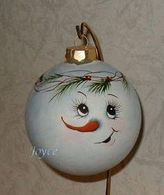 painted ornaments   Snowman Ornaments