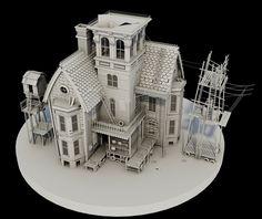 3D Swamp House, Darren Colley on ArtStation at https://www.artstation.com/artwork/3d-swamp-house