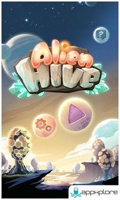 Alien Hive produces the deadly combination among iPhone games Game Font, Game Ui, Alien Hive, Video Game Logos, Game Creator, 2d Game Art, Game Logo Design, Branding Design, Space Games