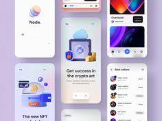 Node – Crypto NFT iOS UI Kit #4 by Tran Mau Tri Tam ✪ Directory Design, Ios Ui, Web Project, Ui Design Inspiration, Adobe Xd, Job Opening, Ui Kit, User Interface