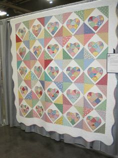 1930's repro fabrics patchwork heart quilt   Love the fabrics and Love this quilt!