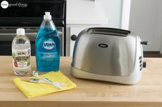 When was the last time you cleaned your toaster? Check out these 4 simple steps that will leave your toaster looking as good as the day you bought it! Deep Cleaning Tips, House Cleaning Tips, Cleaning Solutions, Spring Cleaning, Cleaning Hacks, Cleaning Checklist, All You Need Is, Fun To Be One, Heinz Vinegar