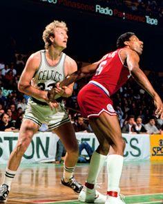 Boston Celtics Larry Bird vs Philadelphia 76ers Dr J Julius Erving Magic  Johnson c89e2d8b0