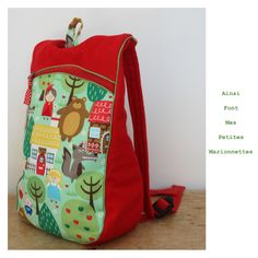 sac a dos sympa + lien vers le patron Sac Vanessa Bruno, Diy Sac, Couture Sewing, Couture Bb, Kids Bags, Diaper Bag, Sewing Projects, Sewing Patterns, Backpacks