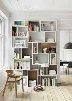 bibliothèque modulable blanche