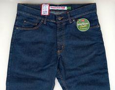 Jeans Carrera Uomo Art700/921A Scuro Elasticizzato 46/62 Zip Frontale 5 Tasche