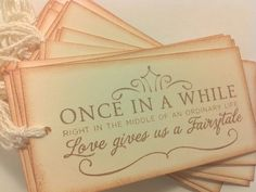wedding wishing tree tags/ fairytale /set of 25 by MollyDeesigns, $17.50