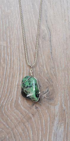 Prehnite Stone Necklace