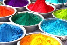 Powdered colors laid out for Holi, the festival of colors. | 35 Photos That Will Make You Homesick For India