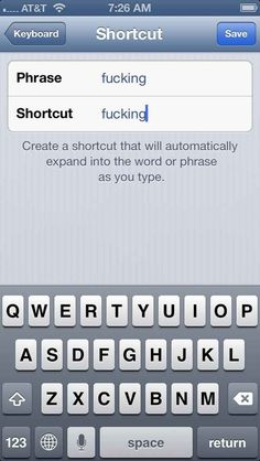 Banish autocorrect tyranny forever by setting your own shortcuts. | 21 Brilliant Solutions To Life's Awkward Problems