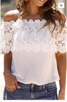 Oh So Lacey Shoulder Top