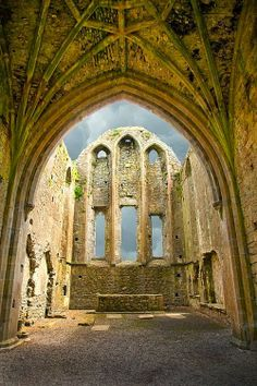 The Ruins of Hore Abbey, County Tipperary, Ireland.