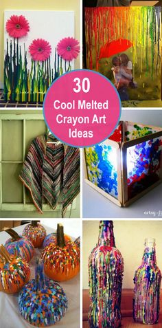 Melted crayon art is an easy and fun thing. The finished product makes great gifts or party favors. Crayons Fondus, Crayola Crayon Melter, Crayola Art, Melted Crayons, Easy Arts And Crafts, Easy Craft Projects, Easy Diy Crafts, Art Projects, Spring Crafts For Kids