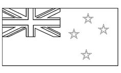 Flags Of The World - Colouring Pages - New Zealand