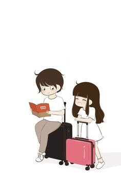 Eagerly Waiting Fr Our Unexpctd Trvls Togethr. Love Cartoon Couple, Chibi Couple, Cute Couple Art, Anime Love Couple, Cute Couples, Cartoon Pics, Cute Cartoon, Cartoon Photo, Cute Love Images