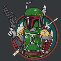 Super LikeLikes: BOBA BOY Tshirt Print Design by ALIENBIKER23 #fallout #starwars