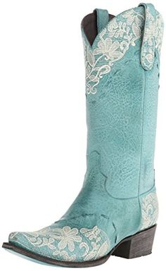 Lane Boots Women's Jeni Lace Western Boot, Blue, 7 M US $350 - So cute and feminine