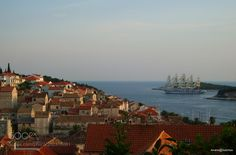 Royal Clipper at anchor in Dubrovnik Harbour by AndriaMamy from http://500px.com/photo/202310081 - . More on dokonow.com.
