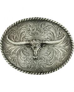 Montana Silversmiths Steerhead Belt Buckle