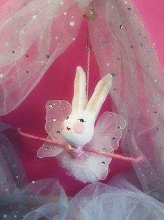 Mabel the Ballerina Pixie Fairy bunny rabbit  by sugarcookiedolls