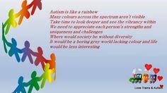 Trains Love & Autism : Autism is like a Rainbow