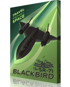 Blackbird – Travel the Edge of Space Supersonic Speed, Speed Of Sound, Art Deco Posters, Aviation Art, Blackbird, Vintage Artwork, World Records, Spacecraft, Vector Graphics