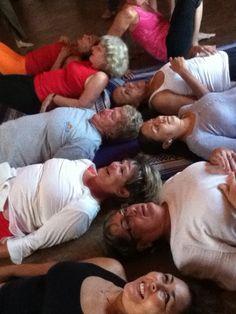Laughter yoga Savasana at Davannayoga