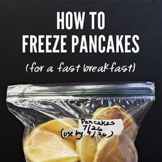 kodiak cakes according to directions on the box Make pancakes. Allow to cool completely on a plate or cooling rack bak. Breakfast Pancakes, Breakfast On The Go, Freezer Cooking, Freezer Meals, Kodiak Pancakes, Healthy Snacks, Healthy Recipes, Weight Watchers Meals, Recipe Of The Day