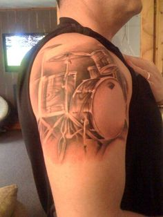 Tattoo Drum Kit Music Forever Half Sleeve Perfect Pictures