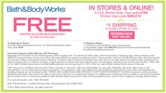 Pinned April 5th: $14 fragrance mist free with $10 spent at Bath & Body Works, or online via promo code SMILE10 coupon via The Coupons App