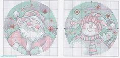Santa and Snowman Ornaments - 4/8 Solo Patrones Punto Cruz | Aprender manualidades es facilisimo.com