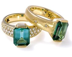 Tourmaline rings (H. Stern) - Brazil has almost all the precious stones there are!