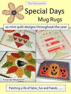 Special Days Mug Rugs Booklet | Craftsy