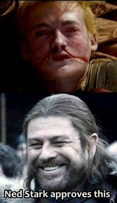 #GameOfThrones Its Good To See Smile On Your Face Ned Meme | Game Of Thrones Memes and Quotes
