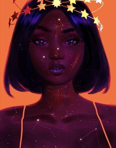 Favd_writingwithcolor-January 07 2017 at black girl cartoon, black girl art Black Girl Cartoon, Black Girl Art, Black Women Art, Black Art, Art Africain, Afro Art, Magic Art, Dope Art, Portrait Paintings