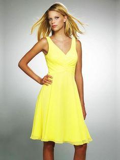 A-line V-neck Short Prom Dresses