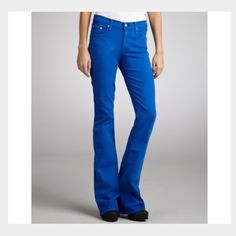 """Rag & bone elephant bell cobalt blue flare jeans Awesome cobalt blue elephant bell jeans. Machine wash cold. Gently worn, no condition issues. Cotton/Roica. Inseam is 30.5"""". Rise is 8"""". Cuff is 9.5"""" flat. rag & bone Jeans Flare & Wide Leg"""