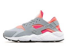 Womens Nike Air Huarache - Light Magnet Grey/Bright Mango/Fuchsia Frolic, Light Magnet Grey/Bright Mango/Fuchsia Frolic