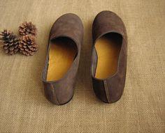 3 Farben Handgemachte flache Schuhe für Frauen Schuhe